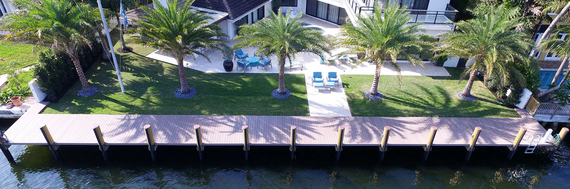 dock on waterside of house